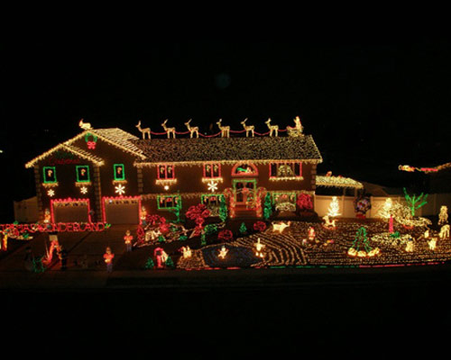 over the top christmas mights and decorations