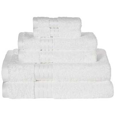 a stack of towels that would be good for a guest bathroom