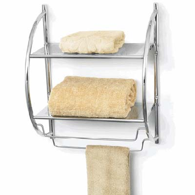 a handy organizer suitable to hang over your toilet and stock for guests