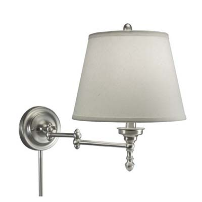 wall mount lamp on adjustable arm