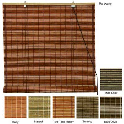 bamboo blinds in a wide variety of natural and earth tone colors
