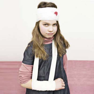 girl in cast