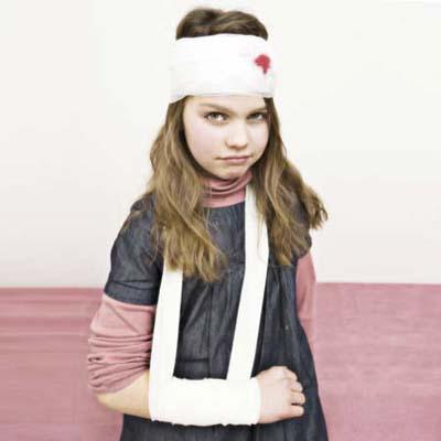 girl in cast