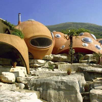 a bubble-shaped house in Tourettes-sur-Loup, France