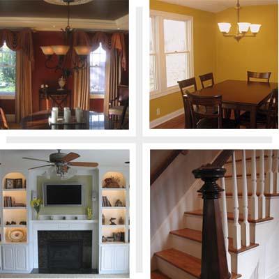 Composite of four interiors