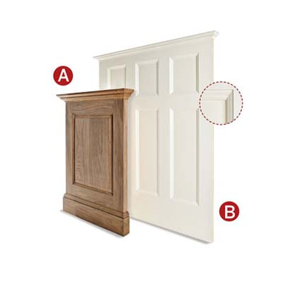 types of wainscoting boards to use as panels