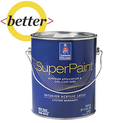 a can of better quality sherman-williams paint for comparison