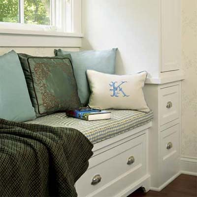 window seat incorporating drawers for reliable space saving storage
