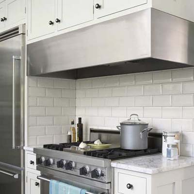 wide range hood for kitchen ventilation