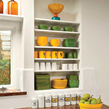 Open Shelves Simple Kitchen Design Timeless Style This Old House