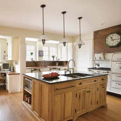a remodeled vintage-look kitchen