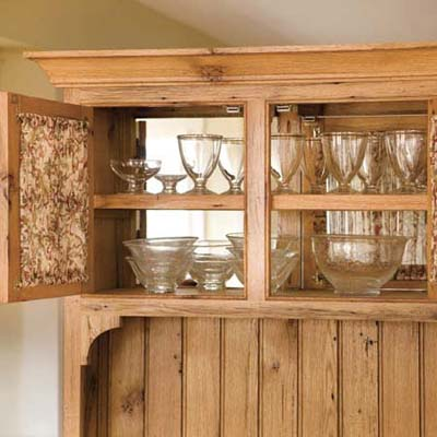 Glass-Front Upper Cupboards