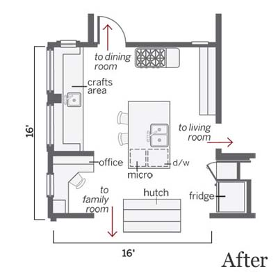 after kitchen floor plan