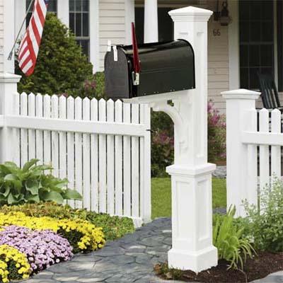 decorative mailbox posts