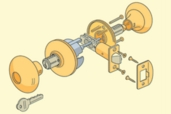 diagram of a lockset