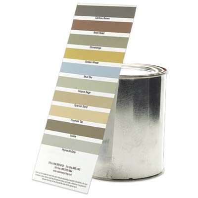 paint can and swatch card