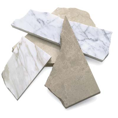 selection of stone from opustone's discount and remnant slab outlet
