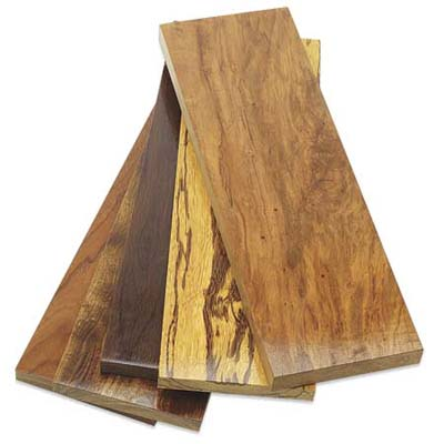 sample of responsibly harvested hardwoods from good wood