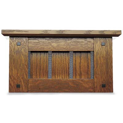 example of a stained oak arts and crafts style ringer