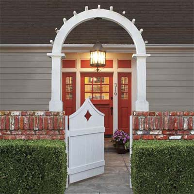 fetching entryway with front door painted bright red