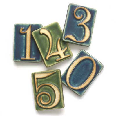 examples of arts and crafts style house numbers