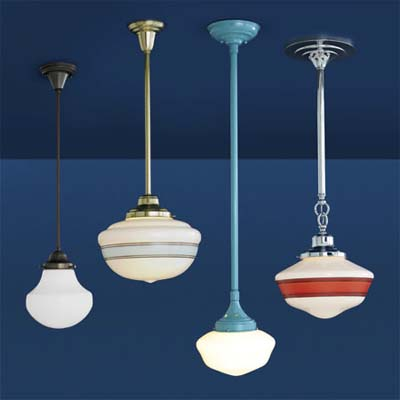 selection of colorful pendant lights