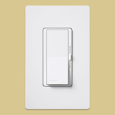 finger moving a dimmer switch