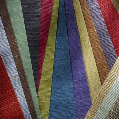 close up of brightly colored grasscloth
