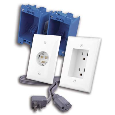 examples of recessed outlets to help conceal wires around the home