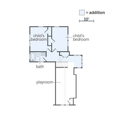 floorplan of the newly remodeled upstairs