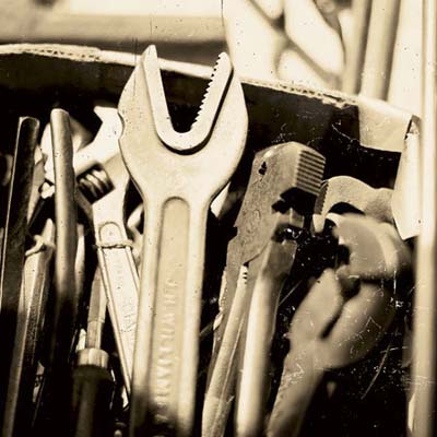 wrenches at the brimfield antique show in massachusetts