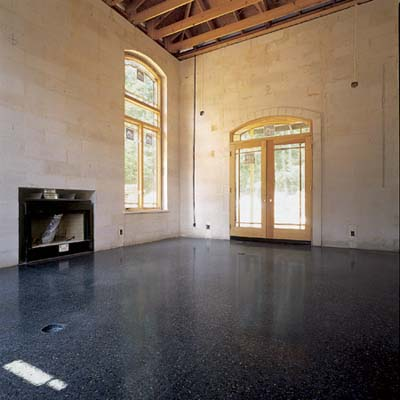 Terrazzo floor