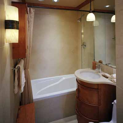 Small and simple 13 big ideas for small bathrooms this for Tiny bathroom designs