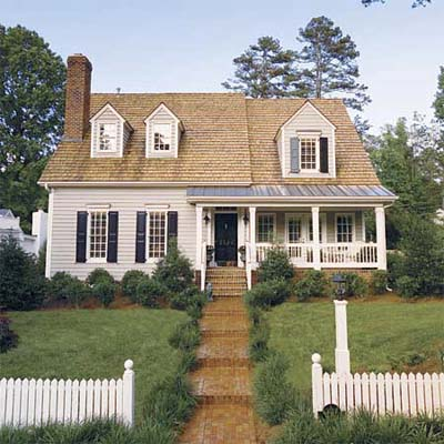 Cape Cod House Demonstrating Double Hung Wood Window Styles