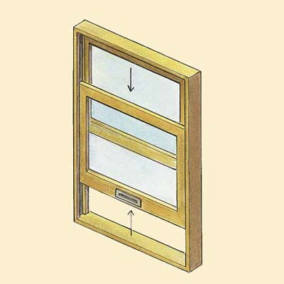 example of the double hung wood window style