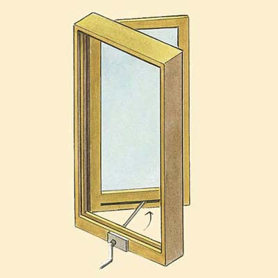 example of a casement wood window style