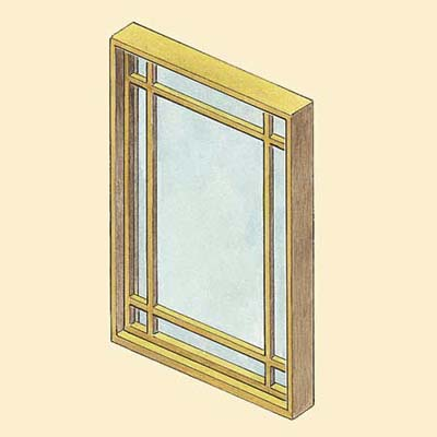 example of a fixed wood window style