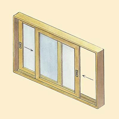example of the slider wood window style