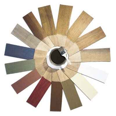 color wheel of wood stains