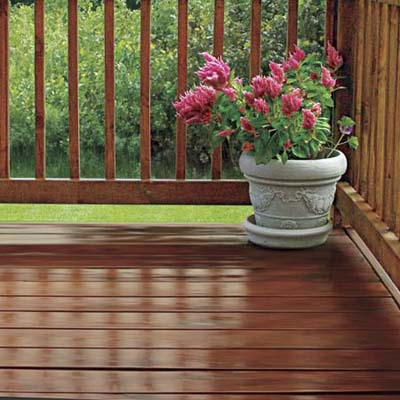 deck with shiny finish