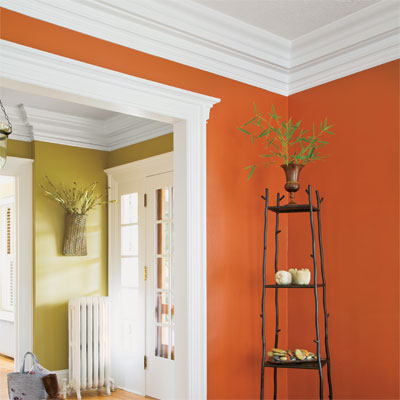 interior room showing bold use of crown molding