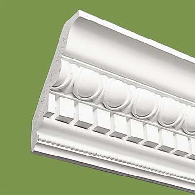 crown molding made of plaster