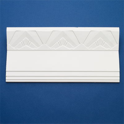 Deco Facets style crown molding