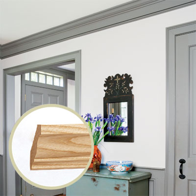 Crown style colonial all about crown molding this old for Colonial style trim