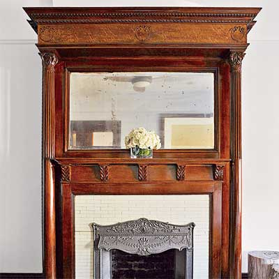 using crown molding on a mantel