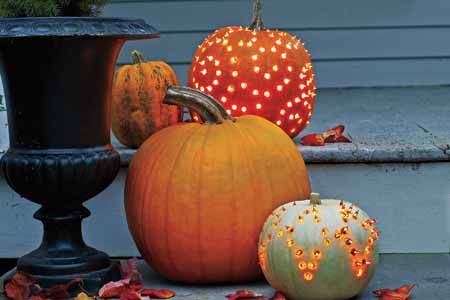 Lighted Pumpkins