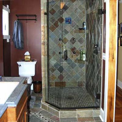 arts and crafts tile in craftsman style house