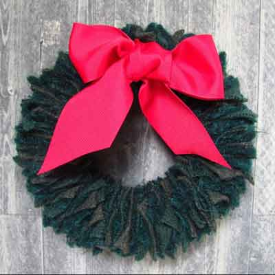 wool fabric wreath