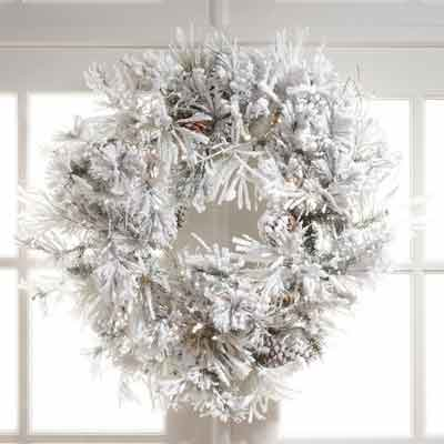 all-white wreath
