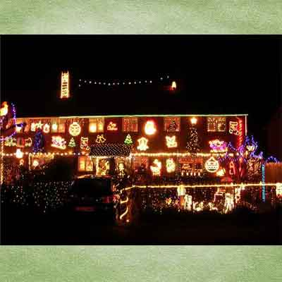 decorated holiday house in fairlie park, england